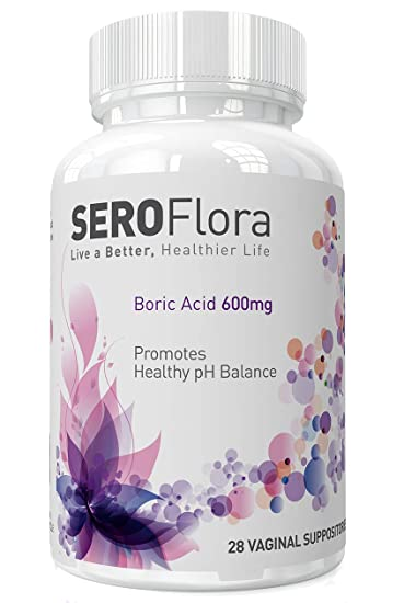 Amazon Com Boric Acid Vaginal Suppositories Seroflora 600mg 28