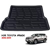 Rear Cargo Liner Trunk Floor Mat for Trunk Modification of Prado (2010-2018), Waterproof Rubber Mats Provide All-Weather Protection,Black