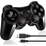 Controller wireless per PS3 con doppia vibrazionee cavo di ricarica