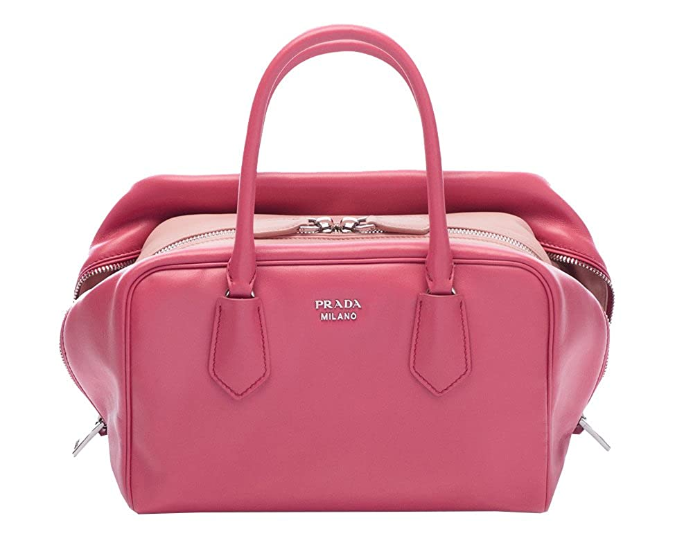 c758315f44 Prada Women s Pink Soft Calf Bauletto Handbag 1BB011  Handbags  Amazon.com