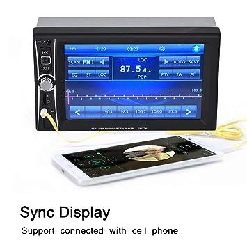 Reproductor MP5 de radio de coche, tarjeta TF de llamada ...