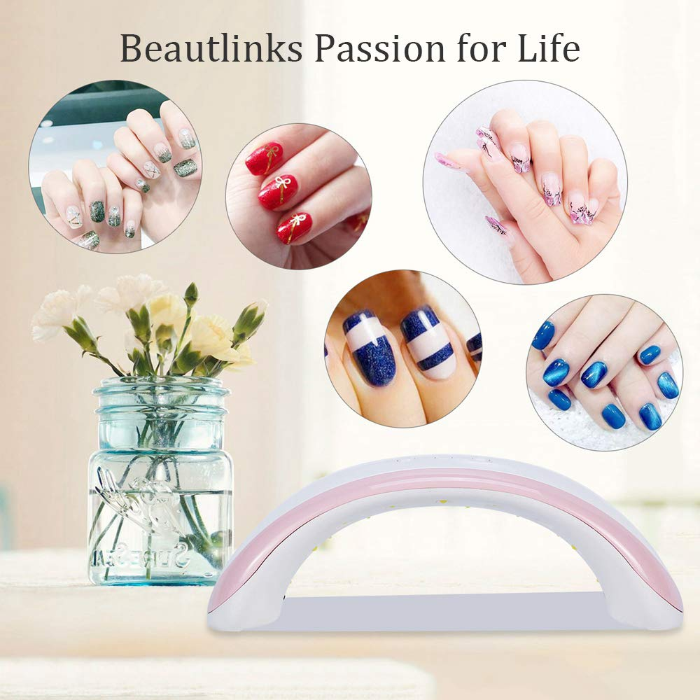 Beautlinks 36W LED UV Nail Dryer Curing Lamp Portable UV Gels Based Polish for Fingernail & Toenail …