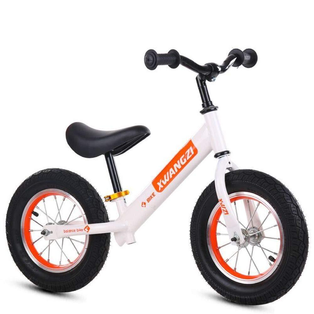 Balance Leichte Kinder Fahrrad 12 & 039;& 039; Kids Outdoor Radfahren 2 Räder Pedalless Fahrrad,Weiß-Futire