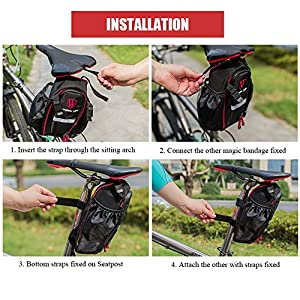 Bike Bag, ThorFire Bicycle Strap-on Saddle Bag Bike Seat Tail Bag Splashproof Pack Pouch Tool Kit for Road Bicycle Mountain Bikes MTB BMX Cycling