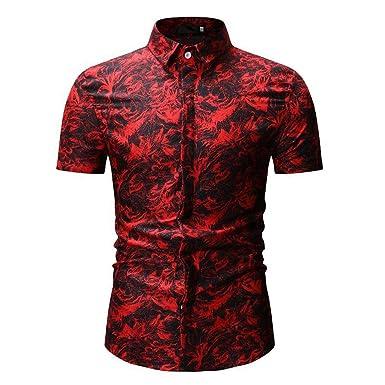 Siilrut-Chemise - Camiseta - para Hombre Rojo L: Amazon.es: Ropa y ...