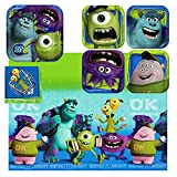 monsters inc mask mike - Hallmark - Disney Pixar Monsters University Party Plates, Napkins, And Tablecloth