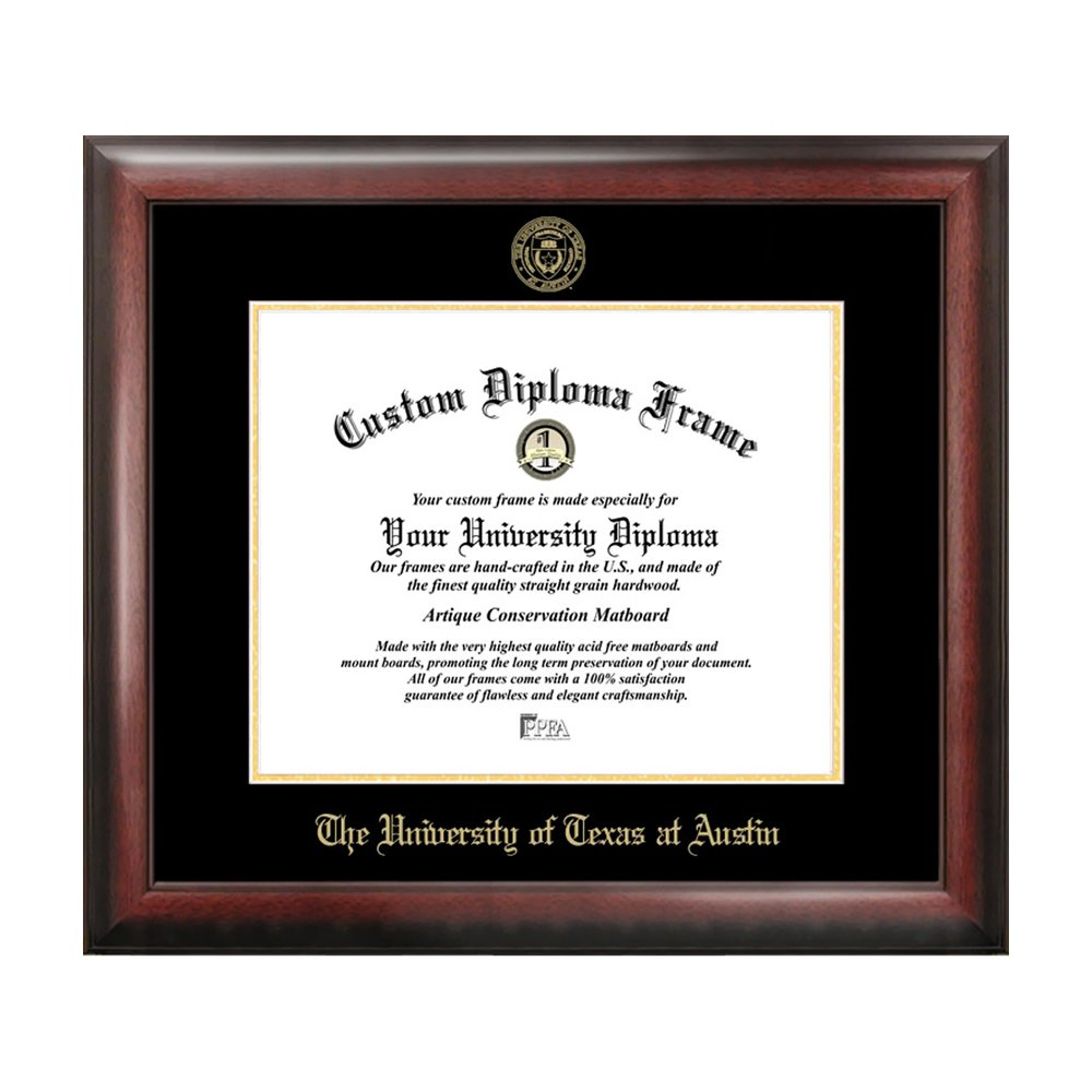 University of Texas, Austin Gold Embossed Diploma Frame, Diploma ...