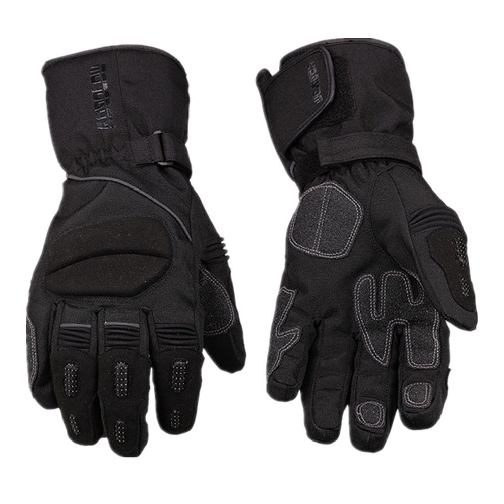 Sdcvopl Protective Gloves Motorcycle Full Finger Gloves Winter Waterproof Warm Gloves for Motorbike Cycling Racing Hiking Ventilation (Color : Black, Size : M)