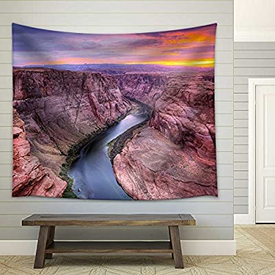 Wonderful Portrait, That You Will Love, Colorado River at Horseshoe Bend Page Az Fabric Wall