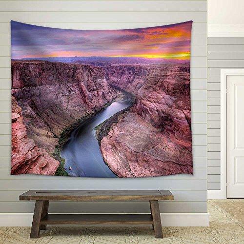 wall26 - Colorado River at Horseshoe Bend, Page, Az. - Fabric Wall Tapestry Home Decor - 68x80 (Horseshoe Bend Colorado River)