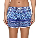 ATTRACO Ladies Floral Quick Dry Board Short Elastic Waistband Swimsuit Trunks XXXL