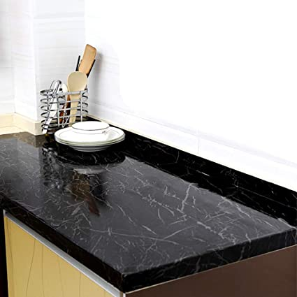 Buy Yenhome 24 X 118 Inch Jazz Black Marble Contact Paper For