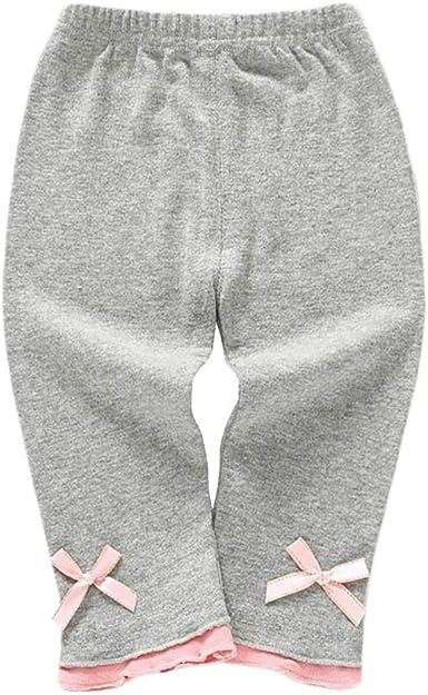 Miyanuby Bebé Niña Pantalones Algodón Confort Leggings Elásticos con Volantes Delgados Pantalones: Amazon.es: Ropa y accesorios