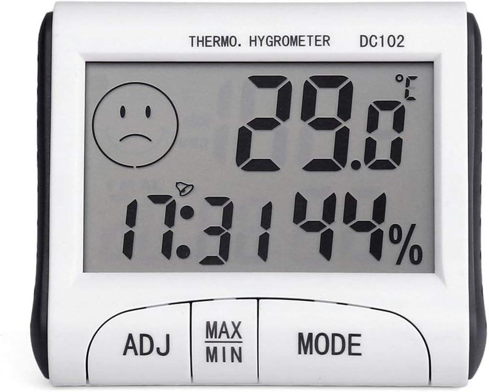 Wei/ß XINFULUK Mini Digital Wetterthermometer Hygrometer Luftfeuchtigkeitsmesser Home Raumtemperaturmesser Indoor LCD Display Tools