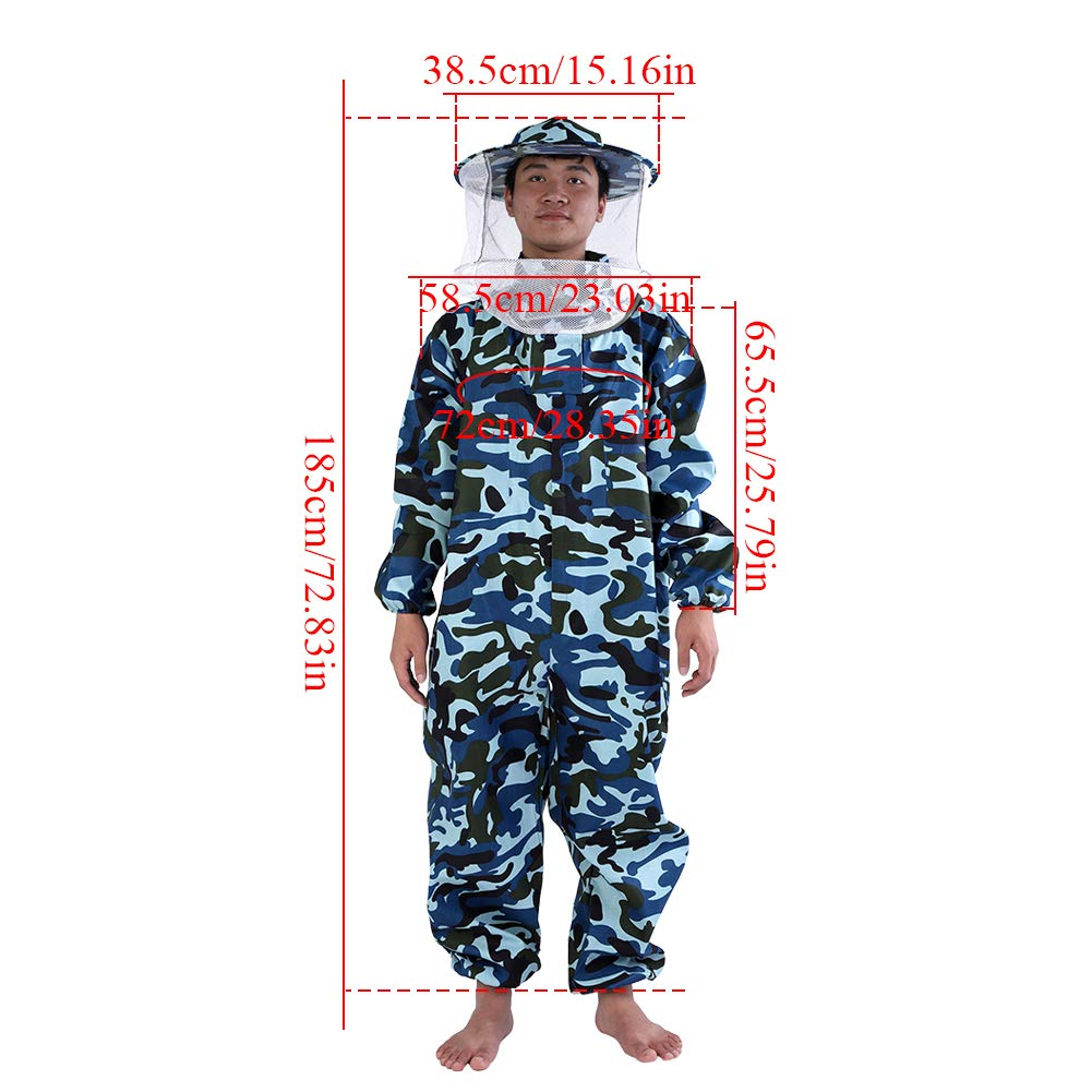 GLOGLOW Beekeeper Suit Camouflage Protective Equipment Full Body Protection for Professional & Beginner Beekeepers (XXL) by GLOGLOW (Image #3)