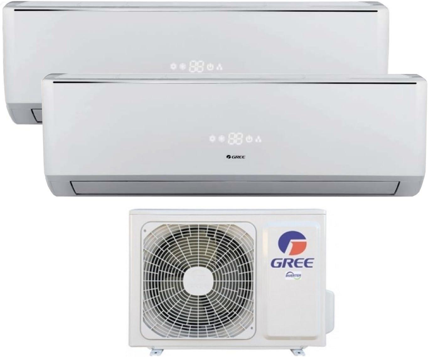 Duo Multi Split de aire acondicionado climática dispositivo Gree lomo Inverter 12000 + 12000 BTU: Amazon.es: Bricolaje y herramientas