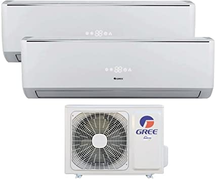 12000 Btu Dual Split Inverter con Pompa di Calore Classe A++//A+ Climatizzatore 12000