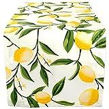 DII Cotton Table Runner for Dinner Parties Spring Wedding & Everyday Use, 14x72', Lemon Bliss