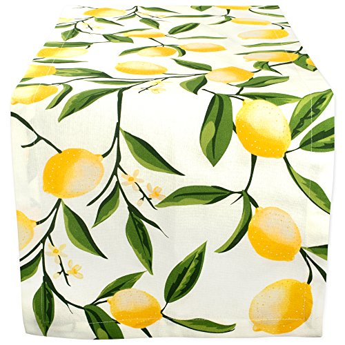 DII Cotton Table Runner for Dinner Parties Summer BBQ & Outdoor Picnics, 14x108