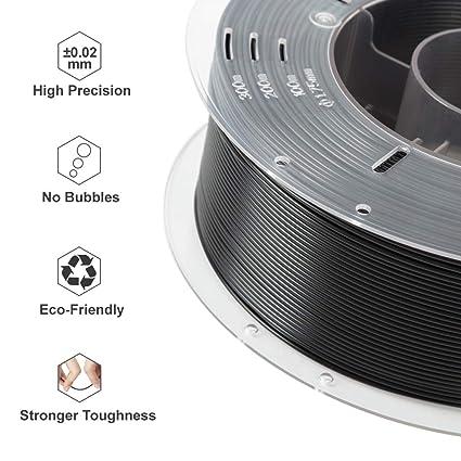 Comgrow Impresora 3D PLA Filamento 1.75mm 1KG Negro: Amazon.es ...