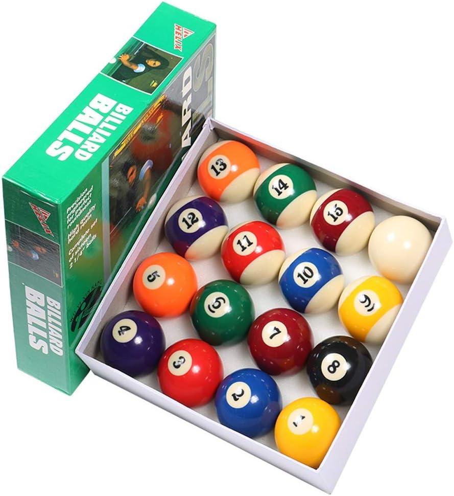 WXS Bolas de Billar, Yeso Ordinario Manchas y Rayas Juego de Bolas de Mesa de Billar Reino Unido 2 1/4 Pulgadas Competencia: Amazon.es: Deportes y aire libre
