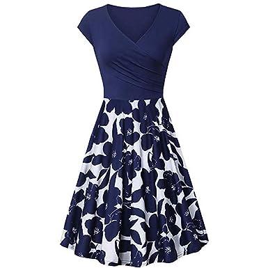 13ebc6a47153 Audrey Hepburn Style Dress Women's Cap Sleeve Dress Cross V- Neck Rockabilly  Dresses Vintage Elegant