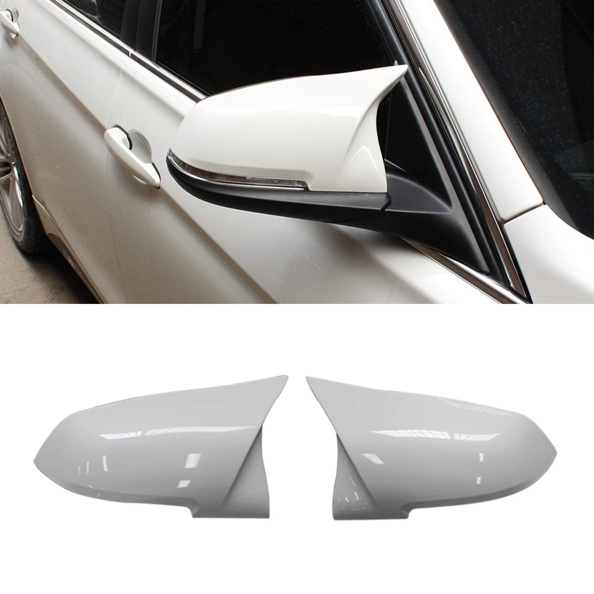 X1 Sereis E84 2013-2015 M2 Replacement Carbon Fiber Rearview Side Mirror Covers Trim for BMW 3 Series F30 F34 F31 1 Series F20 F21 2 Series F22 F23 4 Series F32 F33 F36 F87 Fandixin F30 Mirror Cover