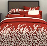City Scene, Branches Collection, Spice Red Comforter Set, Full/Queen