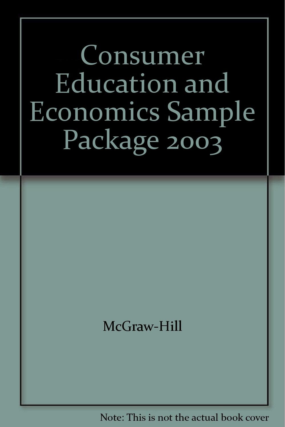 Download Consumer Education and Economics Sample Package 2003 pdf