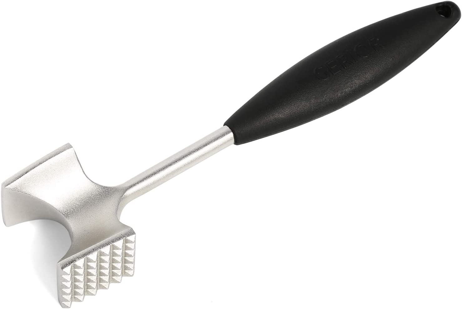 Cast Stainless Steel Meat Tenderizer - Heavy Duty Dishwasher Safe Hammer Mallet Tool & Chicken Pounder