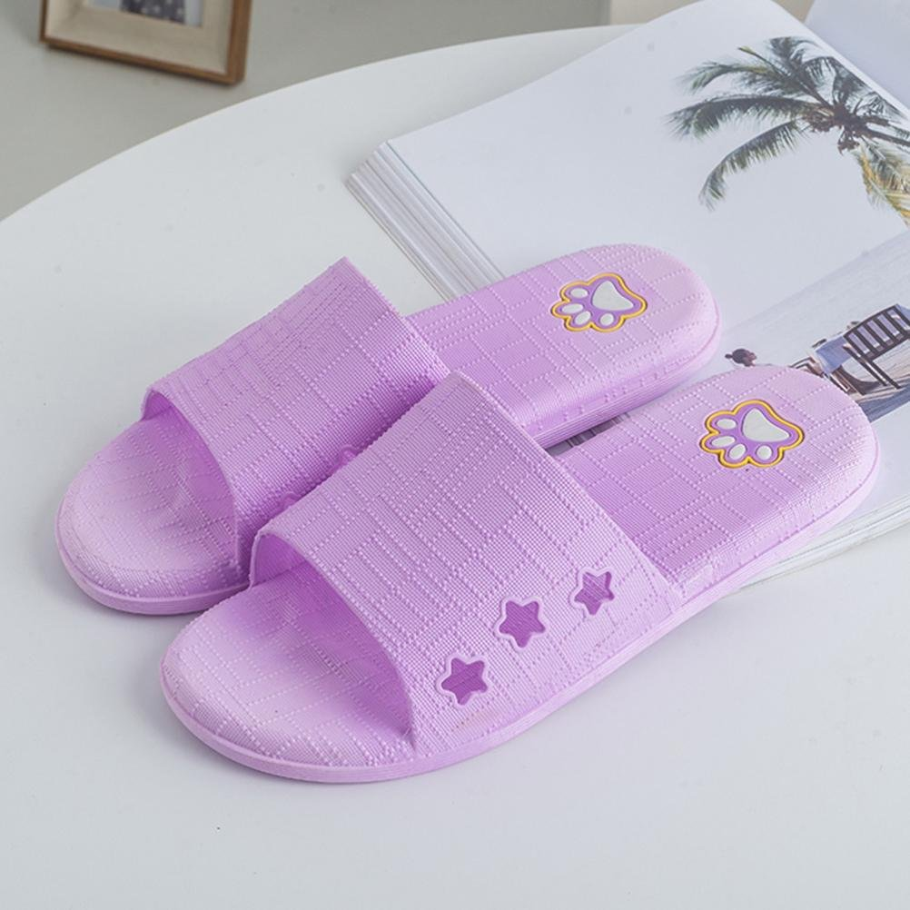 Soft Slip-On Non-slip Comfort Water Shoes Flats House Beach Bathroom Slide Slippers Women Sandals
