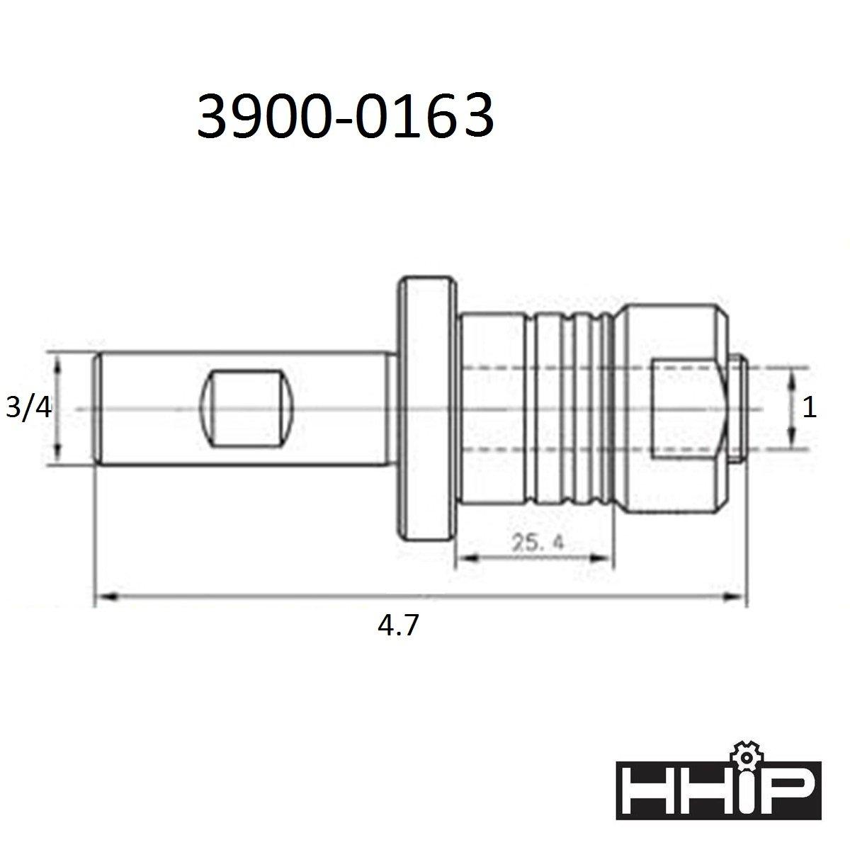 "3900-0161 3//4 ARBOR X 3//4/"" STRAIGHT SHANK STUB MILL ARBOR"