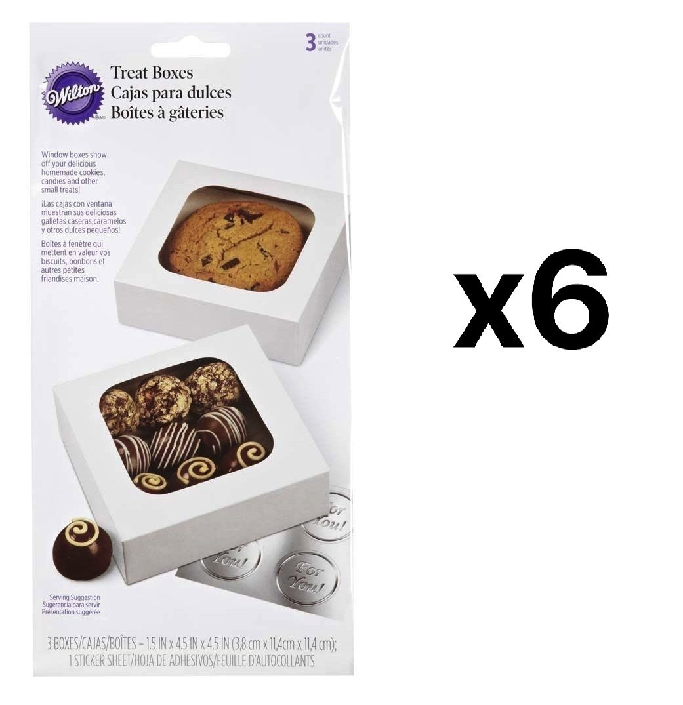 Treat Boxes-White 4.5''X4.5''X1.5'' 3/Pkg