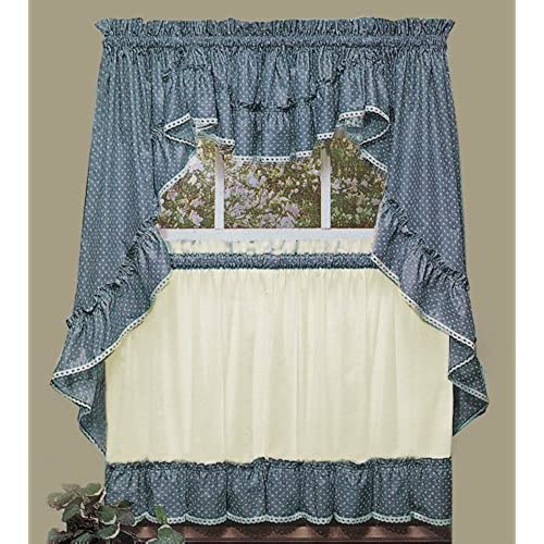 Blue Green Kitchen Curtains: Country Blue Kitchen Curtains: Amazon.com