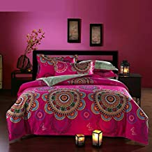 FADFAY Home Textile,New Arrival Exotic Country Style Bedding Set,Brand 100% Cotton Boho Duvet Set,Elegant Bohemian Quilt Cover,4Pcs