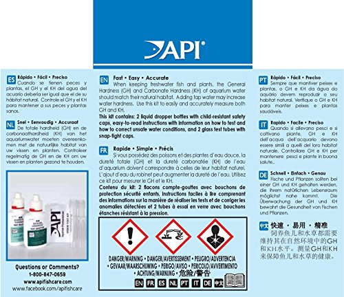 Api test kit: results for every. 25ppm (link goes to ammonia, see.