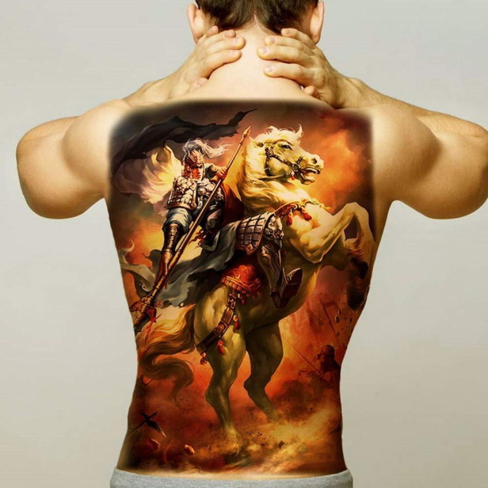 Handaxian 2pcsman Tatuaje Pegatina Body Art Impermeable Espalda ...