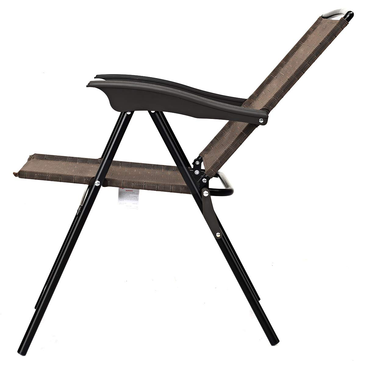 Goplus Sets of 4 Folding Sling Chairs Portable Chairs for Patio Garden Pool Outdoor & Indoor w/Armrests by Goplus (Image #7)