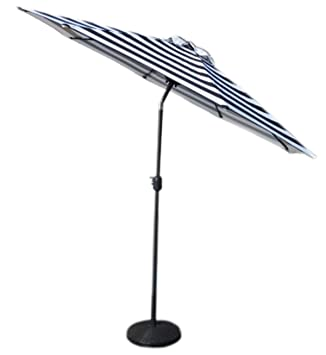 VMI Striped Umbrella, Large, Black