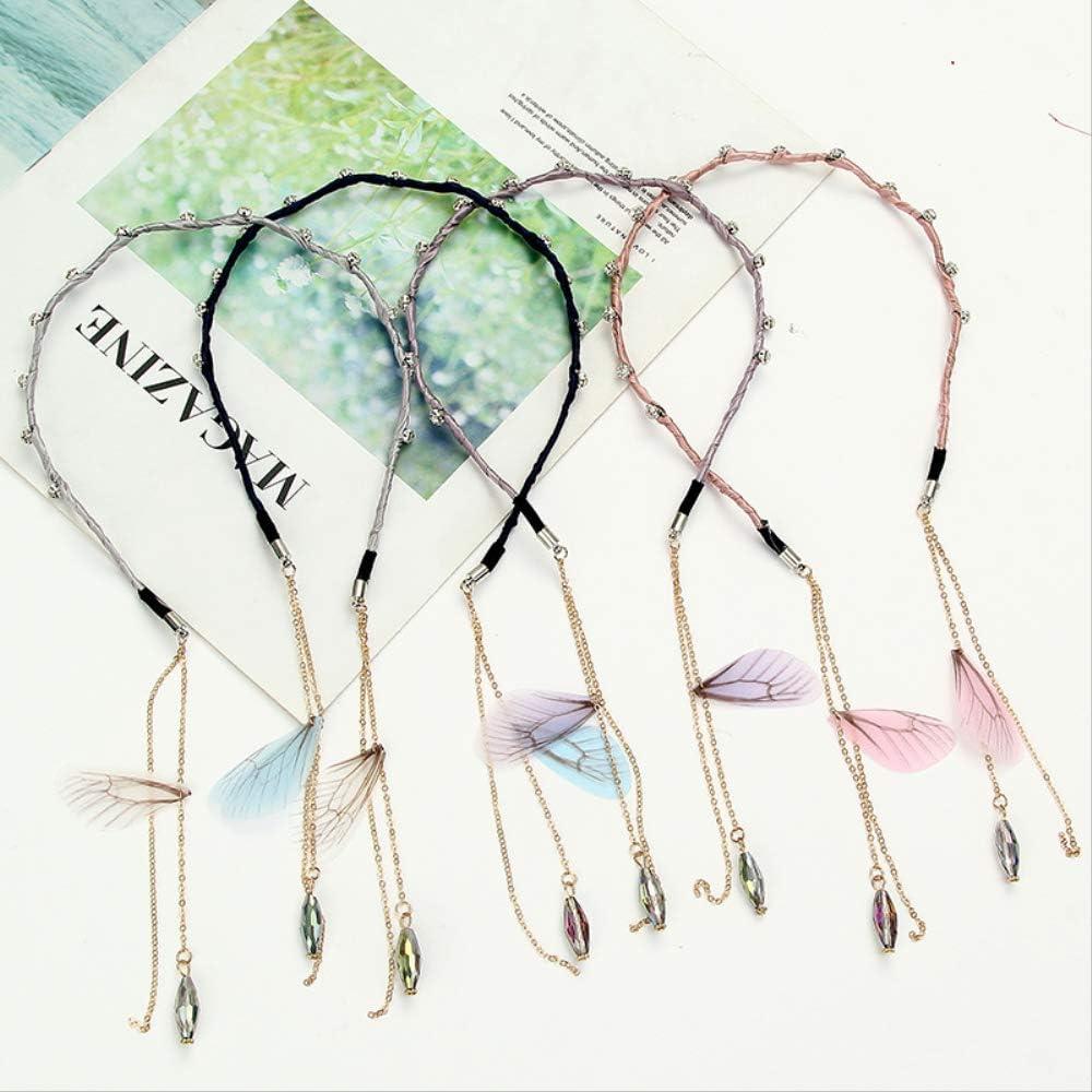 Pendientes falsos, borlas, lazos, pendientes de perlas, cintas para el pelo de ala fina.