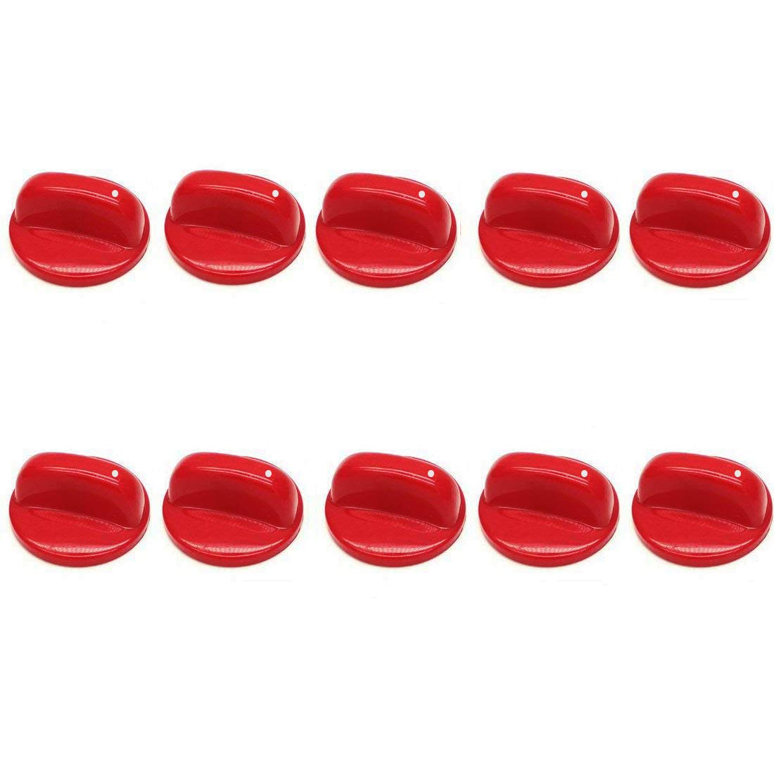 "LDEXIN 10pcs Kitchen Household Gas Stove Cooker Oven Control Rotary Switch Knob 50mm/1.97"" Dia"