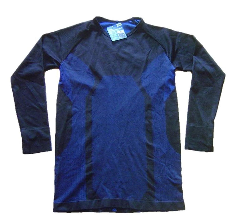 seamless Herren-Sport-Funktions-Unterhemd Ski-Unterhemd schwarz-blau Gr. L