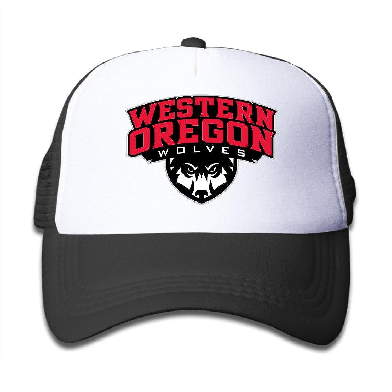 Western Oregon University Kids Adjustable Mesh Trucker Cap Quick Drying Craddle Cap