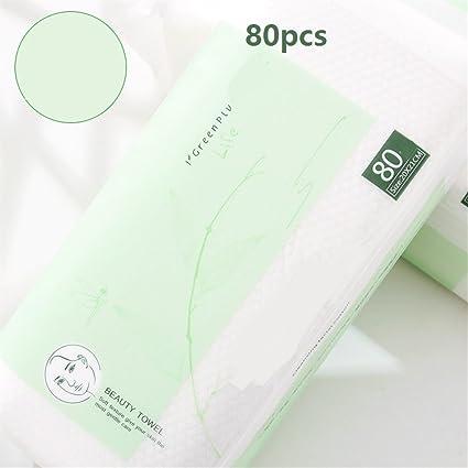 Useful La toalla de cara desechable orgánica espesa el cojín de algodón libre de la pelusa ...