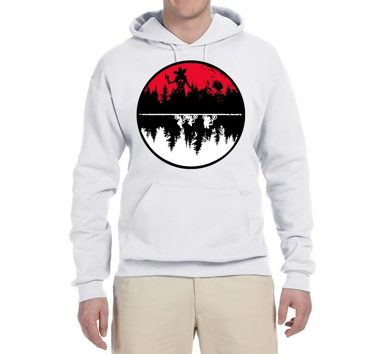 Upside Down Demogorgon Silhouette S Pop Culture Hooded Graphic 4715 Shirts