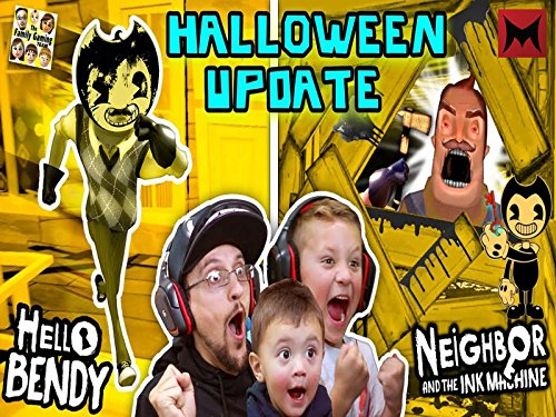 Hello Bendy Neighbor and the Ink Machine Halloween Mod, Fgteev'ers Let's Celebrate with Surprise Gameplay]()