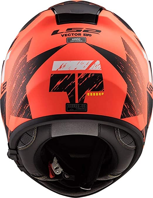 LS2 FF397 Vector HPFC Hunter Motorcycle Helmet XXS Matt Orange Black 103973351XXS