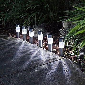 Solar Betrieb LED draußen Garten wasserdicht Landschaft Zaun Weg Lampe Licht D*