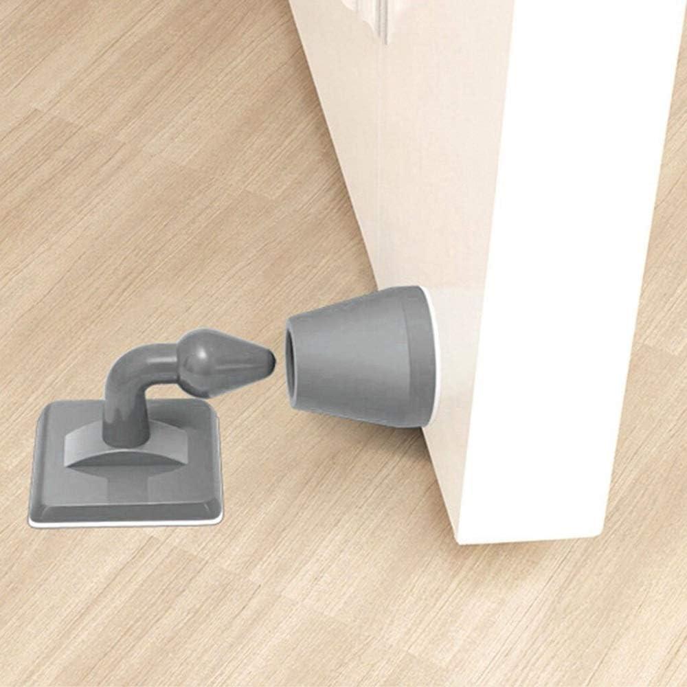 Engfgh But/ée De Porte en Silicone Color : White A Pare-Chocs Anti-Rayures Autocollant De Protection Murale Poign/ée De Porte Pad Anti-Collision