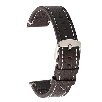 à bas prix 9c1e7 c652b Bracelet Montre en Cuir Véritable Bracelet de Remplacement Bracelet pour  Homme Femmes 18mm 19mm 20mm 21mm 22mm Bandes de Montre